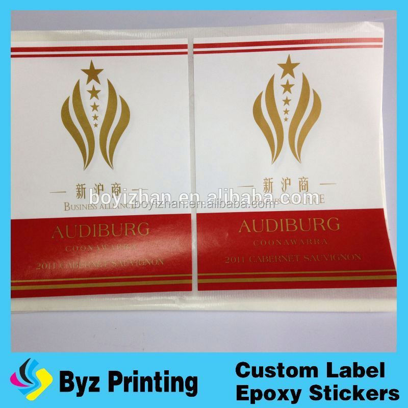 cheap custom waterproof wine trademark,shenzhen