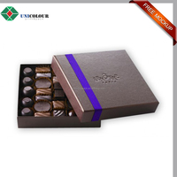 Custom printed free sample A4 2 pieces cardboard chocolate gift boxes