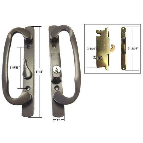 Cheap mortise patio door lock find mortise patio door lock deals get quotations stb sliding glass patio door handle set with mortise lock bronze keyed 3 planetlyrics Image collections