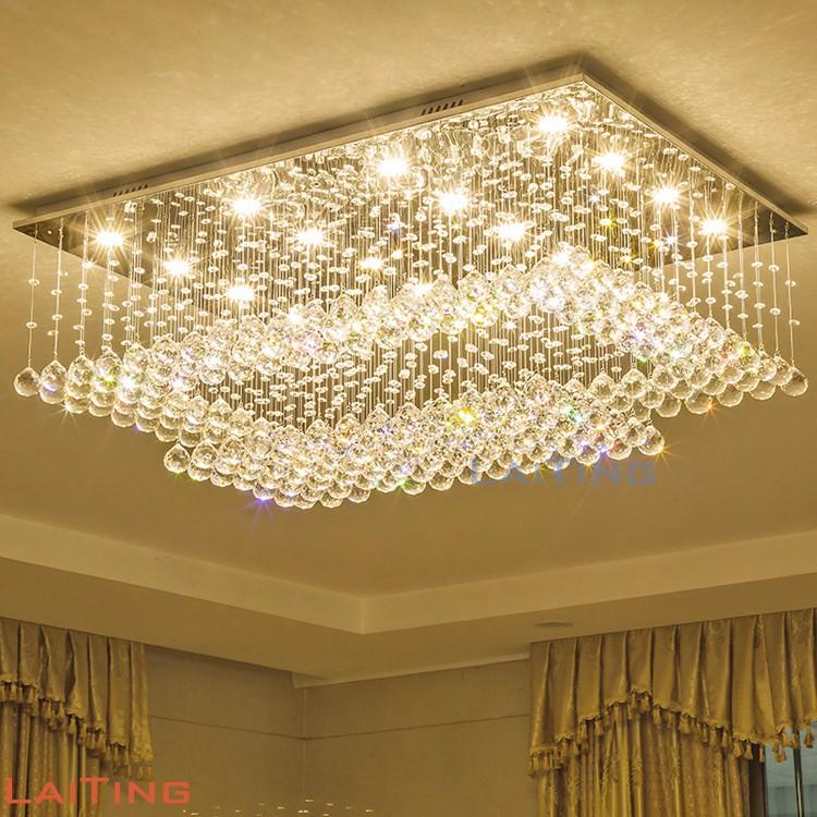 Grand lustre moderne lumière pendentif luminaire pour salon moderne 92045