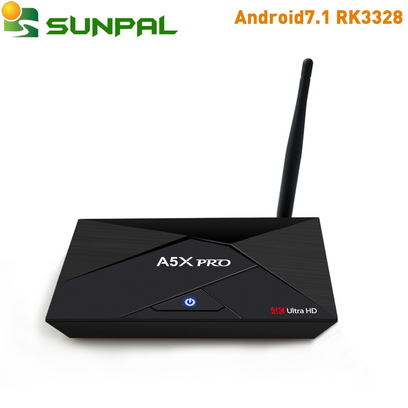 Hot sale Original A5X Pro QHDTV IPTV Rockchip RK3328 Android set top box , 2GB 16GB smart tv box Streaming Media Player