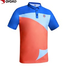 OEM factory customized sublimation printed polyester soft touch polo shirts for men