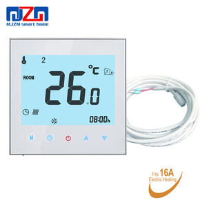 MJZM 16A-1000 Programmable Underfloor Heating Thermostat 95-240V LCD Touch Screen Room Temperature Controller for Warm Floor