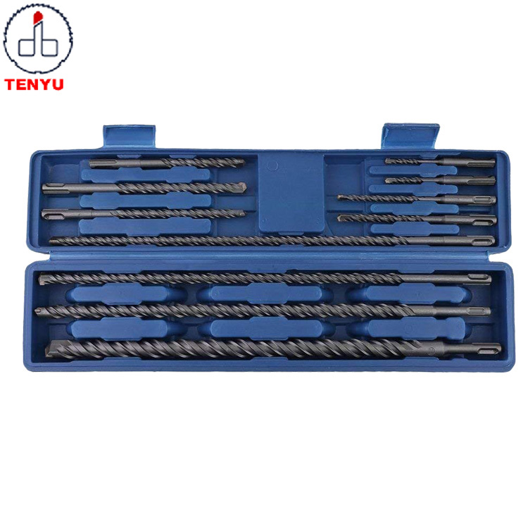 11pcs SDS <strong>Max</strong> Plus Rotary Electric Hammer Drill Bit Set in Plastic Box