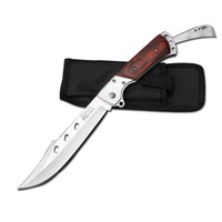 Premium Bead Blasted 14.5cm Blade Stainless steel handle Folding knife hunting Camping knife