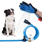 Eco-Friendly Pet Brush Dog Grooming Pet Grooming Brush Glove Massage Wash Bath Shower Sprayer Hair Remover Tools Silicone Pet Cat Dog Grooming Glove