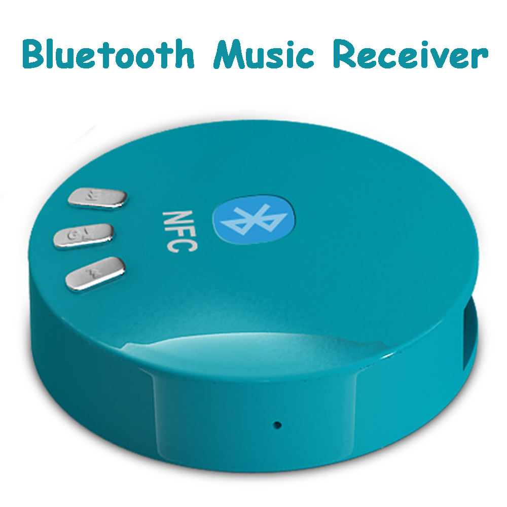bluetooth music receiver light blue nfc contact surface. Black Bedroom Furniture Sets. Home Design Ideas
