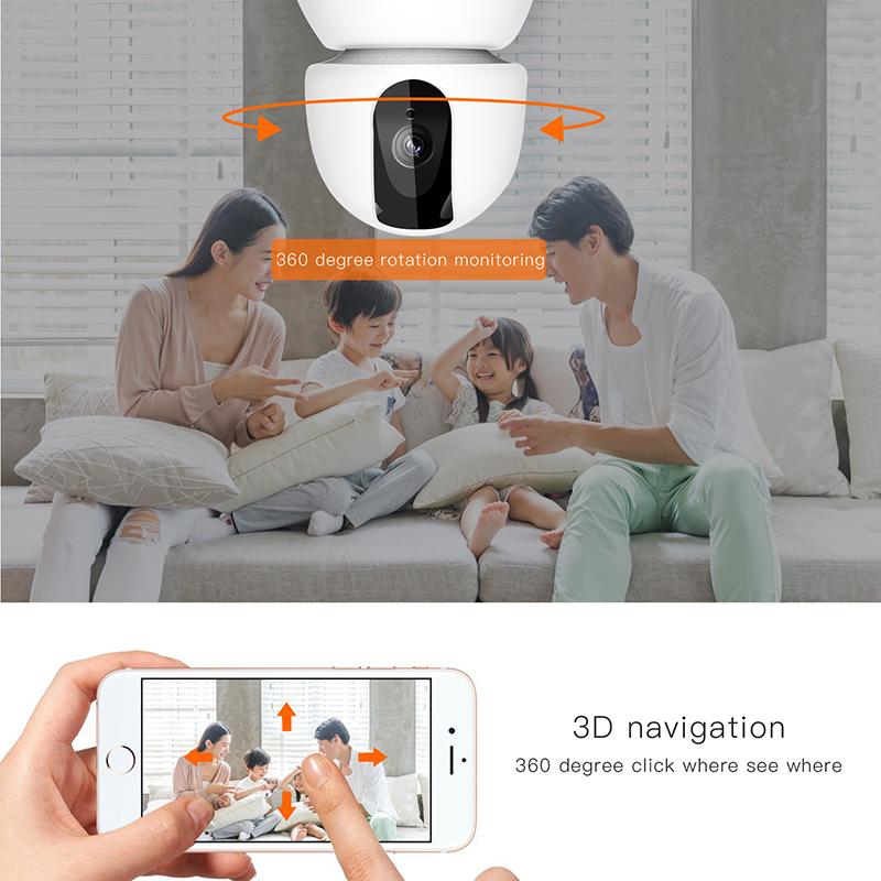 Laikor night vision surveillance camera RoHS FCC CE Internet network HD video camera recording home Security Camera