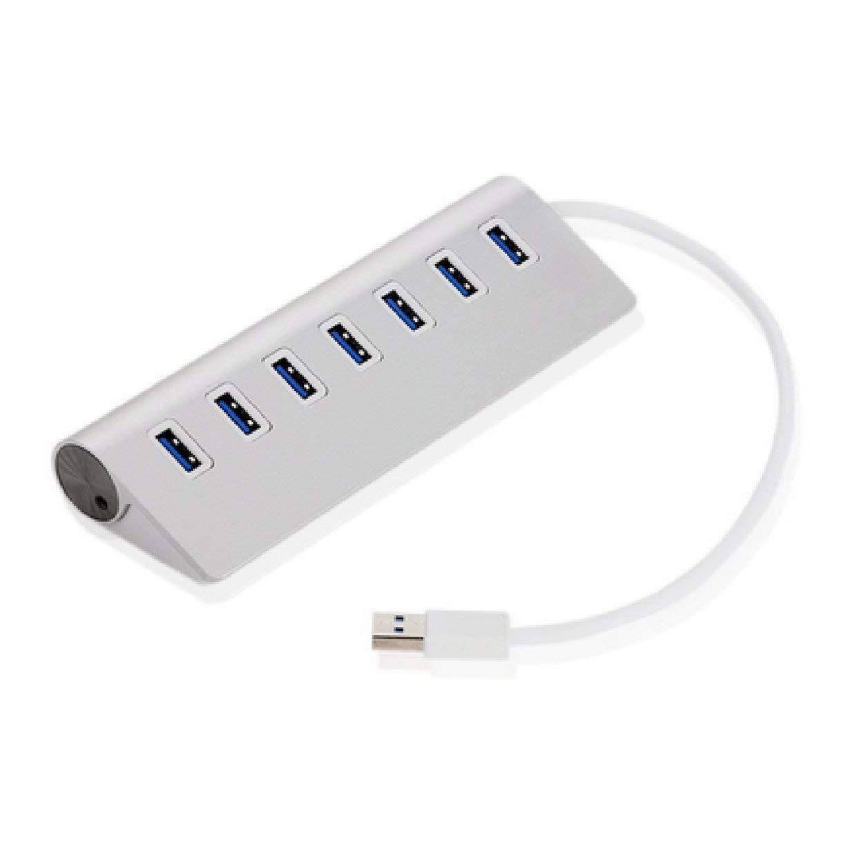 7 Ports USB 3.0 HUB Card Reader Connector Supports Hot Swap Aluminum Alloy Adapter Extender Splitter For Keyboard Computer
