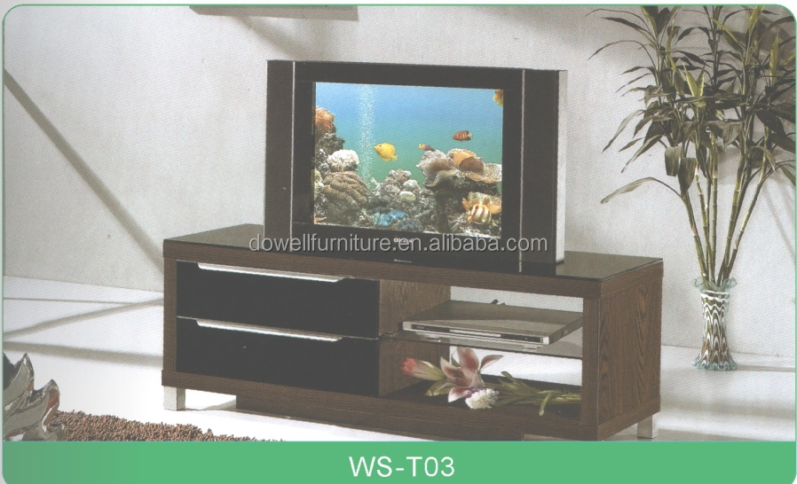 MDF Wooden Moveable LCD TV Carbinet with Drawer Living Room Furniture