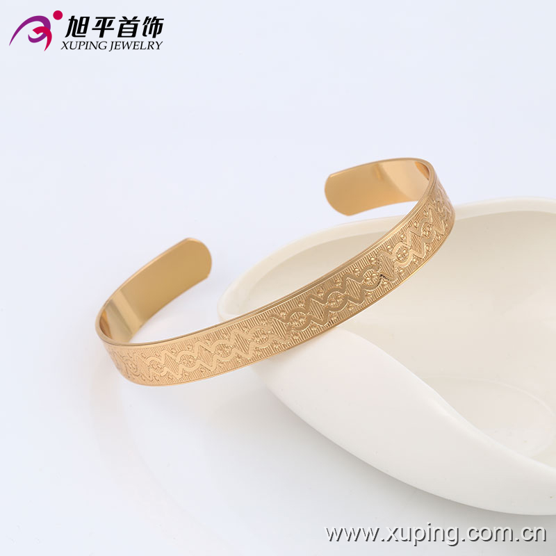 51353 Xuping simple decorative pattern copper alloy jewelry modern elegant  bangle