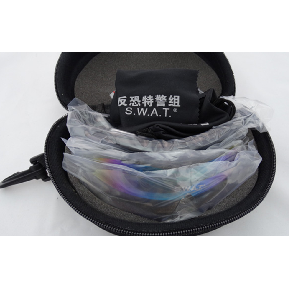 69c5081e67 UV400 SWAT Style Tactical Sunglasses Anti Dust Impact Glasses With Back  Strap