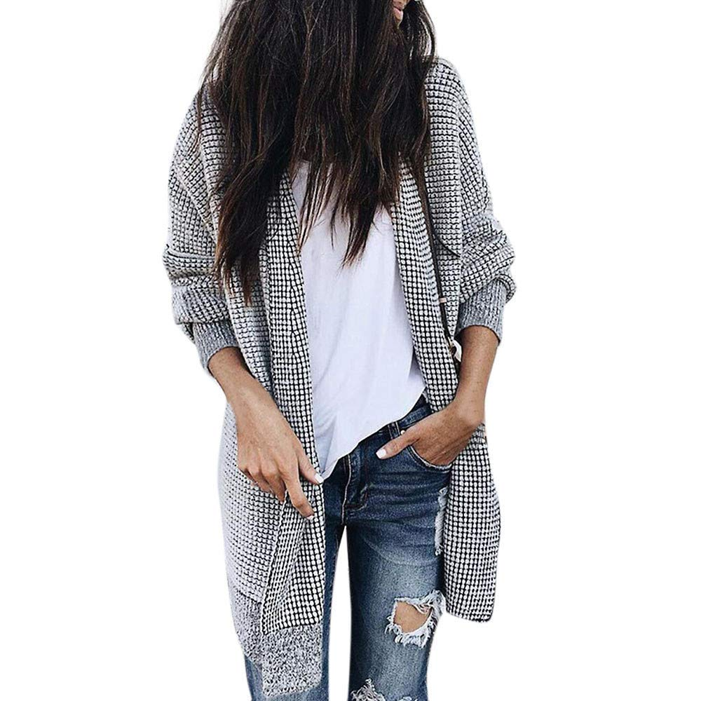 Sikye Coat&Jacket,Fashion Women Long Sleeve Knitted Top Thicker Outwear Long Cardigan Coat