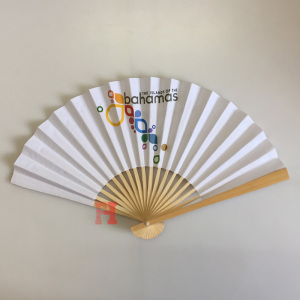 21cm High Quality Hand Held Printed Custom Design Wedding Folding Hand Fan