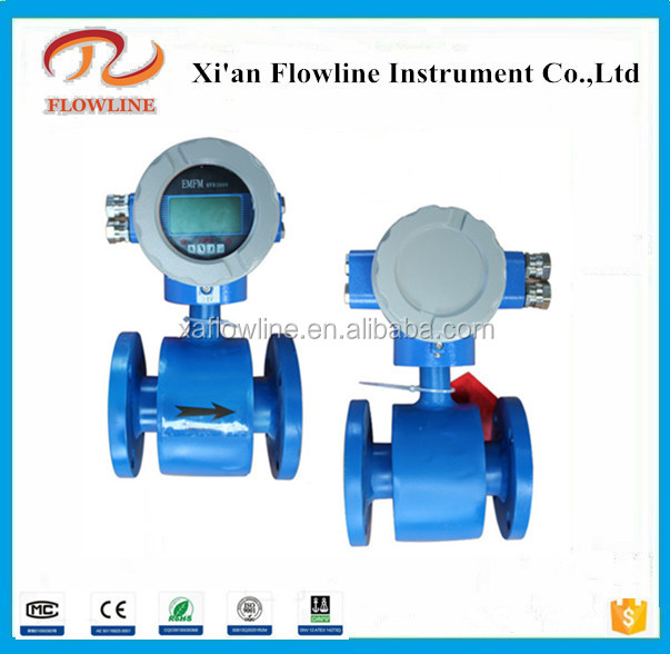 Designed for measuring waste water flow rate Electromagnetic flow meter