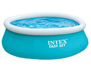 Intex 28101 6 X 20 Quot Easy Set Inflatable Aqua Blue Swimming