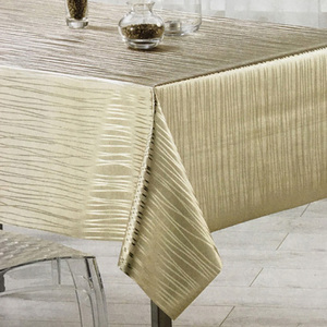 Wholesale China Factory PEVA Gold Vinyl Tablecloth