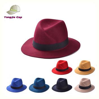 Hot Sale Latest China Fashion Bulk Sale Cheap Sale 100% Wool Fedora ... 3b74188897e
