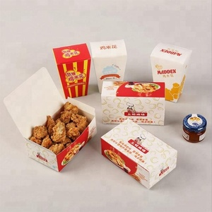 Custom Paper Lunch Fast Food Packing Fried Chicken Boxes