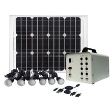 40w portable solar lighting systems led lamp lighting home solar fan & lighting system