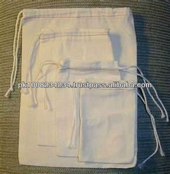 Unbleached Muslin Bag/ Natural Cotton Muslin Bag/ Seed Bags