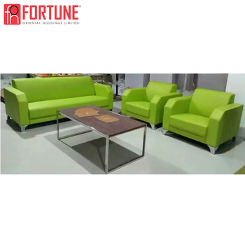 Bright Green Office Reception Sofa Compeive Price