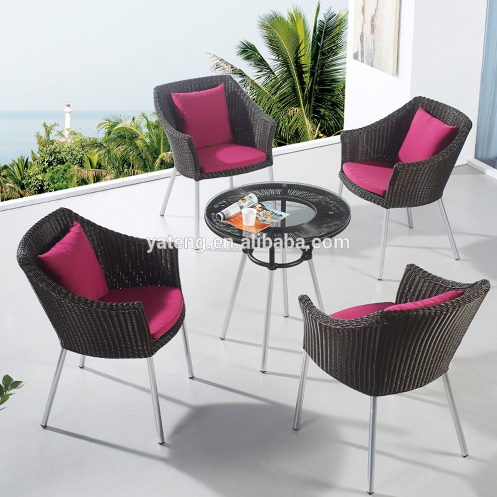 All Weather High Top Garden Line Patio Set Rattan Patio Furniture