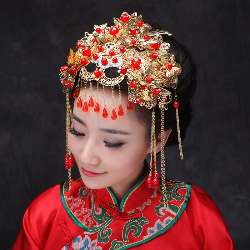 Chinese Traditional Jewelry Classical Bridal Headdress ...