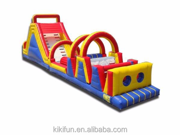 QQ made inflatable obstacle PVC new design best sale kids play giant equipment inflatable obstacle course challeng for sale