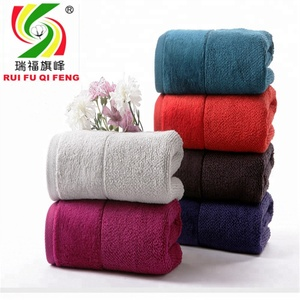 China supplier high quality cotton hand and bath towel meet OEKO Tex Standard