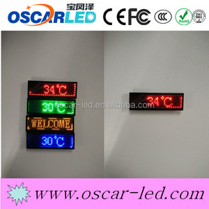 alibaba china cheap price led tags new technology usb recharge battery led name tags single color Mini led name card