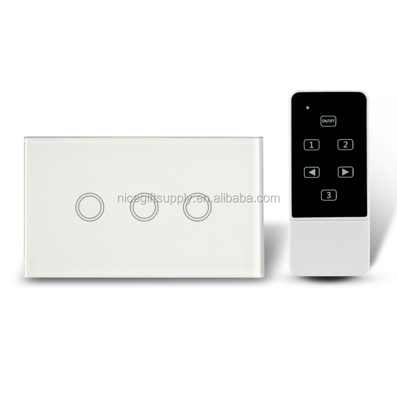 Uk Standard New Fashion Golden Crystal Interruptor Touch Switch 3 ...