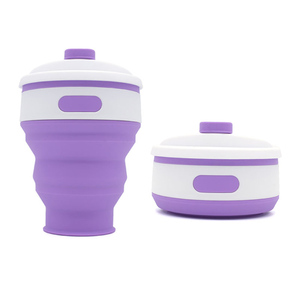 Hot Selling Customize Silicone Drinking Cup Reusable Foldable Coffee Cup