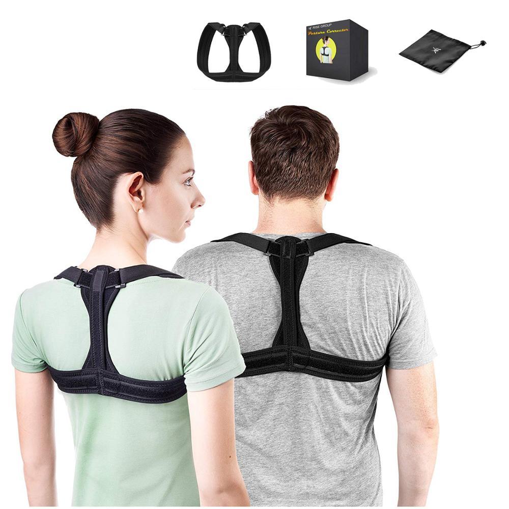 Adjustable Back Posture for Women & Men Posture Brace Corrector Shoulder Support Brace, Black