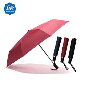 High class waterproof automatic open close 3 folded umbrella