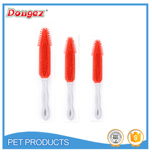 2015 New High Quality Rubber Hair Brush Dog Of Pet Grooming Clean Hot Sale