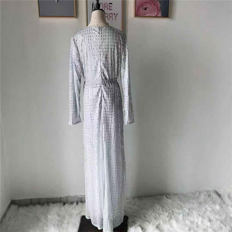 New arrival hot selling wholesale white  soft crepe muslim maxi dress in stock