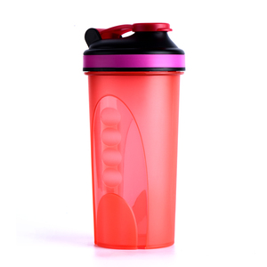 600ml Colorful Fashion Type Shaker Bottle Protein With Sealing Pop Lid