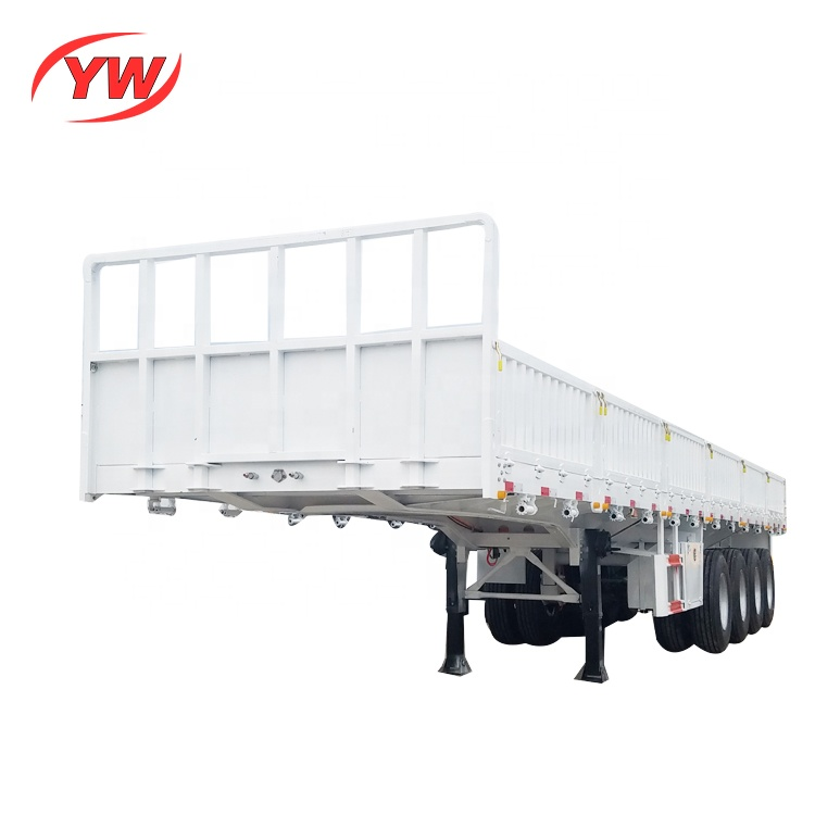 the Bagged cement transport cargo sidewall trailer
