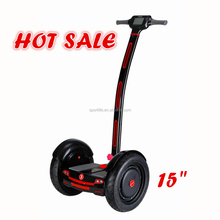 "2016 hot sale big wheels 15"" electric chariot scooter with handle and bluetooth"