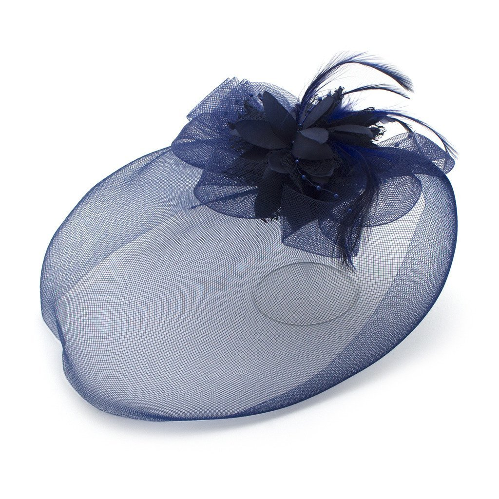 Ladies' Fashionable Feather Flower Bead Detailed and Mesh Ascot/Derby Day Fascinator Hat Headdress