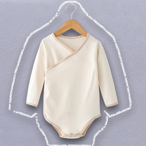 New item plain 100% organic cotton blank baby clothes romper
