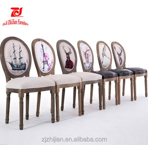 Wholsales dining chair french round back cafe Dining chair louis wedding chair ZJ-S33