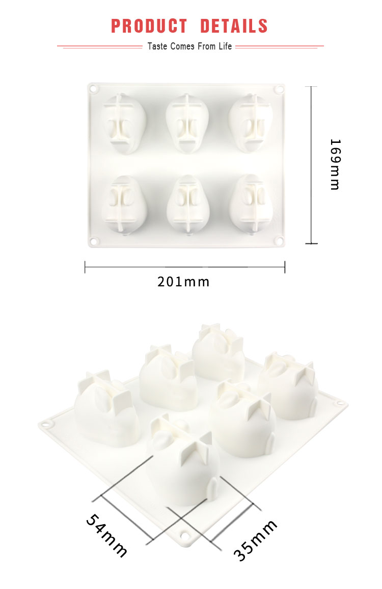 Home DIY silicone cake decorating mold fondant tool D animal rabbit silicone mousse cake  mold