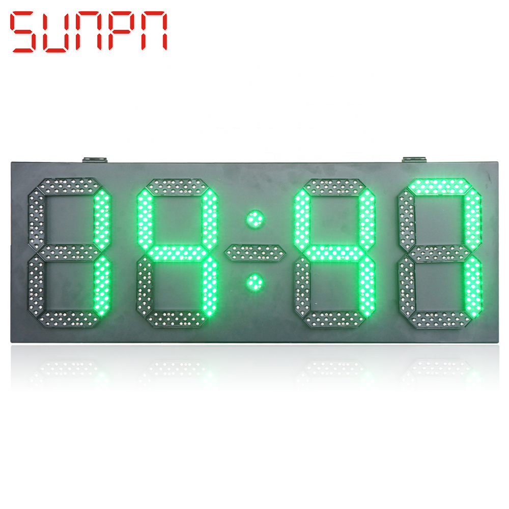 Dubai Outdoor LED TEMPO, data e Temperatura Bordo timer led sign led temp display conto alla rovescia del led sign
