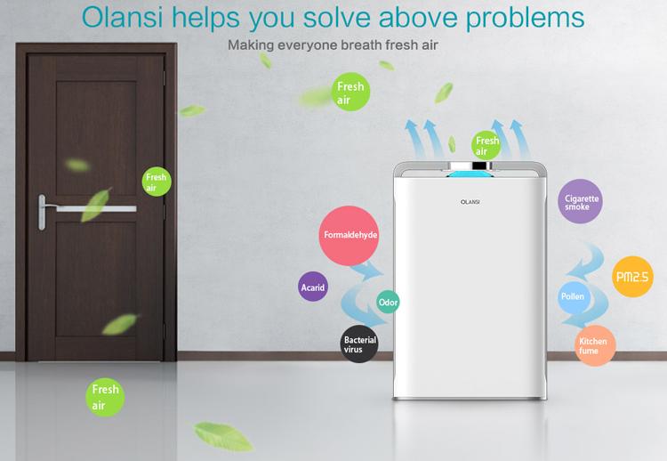 Umidificatore purificatore d'aria di Casa purificatore d'aria per uso domestico 3 in 1 purificatore d'aria filtro HEPA carbonio filtro rimuovere gli odori virus bacterials