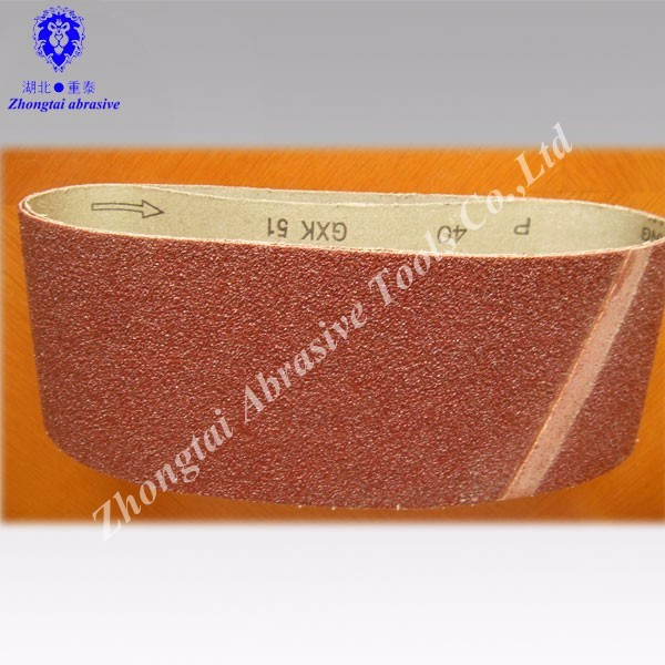 sanding belt 75*457mm,75*533mm,100*610mm for glass polishing
