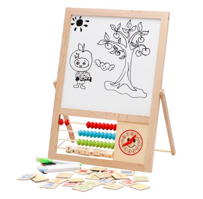 20171200908 Faithidmarket Baby Wooden Toy writing board