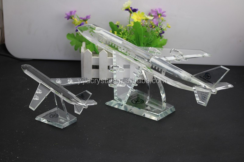 Airplane Clear Favor Boxes : Exalted airline souvenir gift k crystal glass airplane