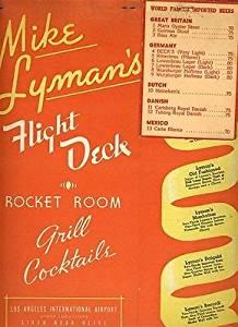 Mike Lyman's Flight Deck Menu Los Angeles International Airport 1960